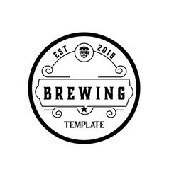 Brewery hand written lettering logo label vector
