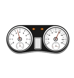 Car dashboard on a white background vector