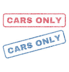 Cars only textile stamps vector
