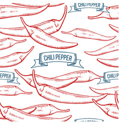 Chile pepper seamless pattern vector