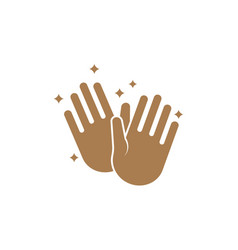 clean hands icon design template isolated vector image