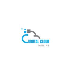 Cloud tech logo creative cloud logo digital cloud vector