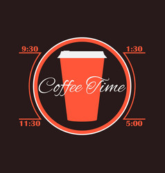 coffee time cup of coffee infographics poster vector image