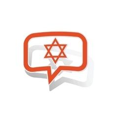 David star message sticker orange vector