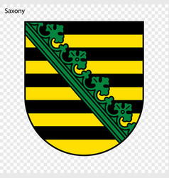 emblem of saxony province of germany vector image