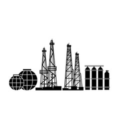 Energy resources oil and gas rigs extraction vector