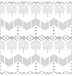 ethnic textile decorative ornamental dotted vector image
