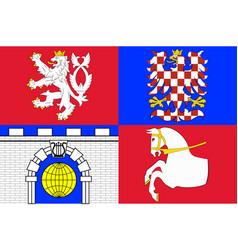 Flag pardubice region in czech republic vector
