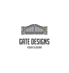 gate designs logo vector image