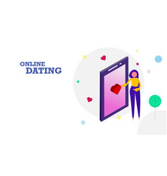 Happy valentines day flat design background woman vector