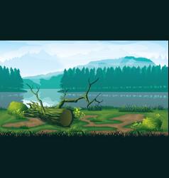 horizontal seamless background landscape vector image