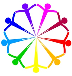 Icon - people circle vector