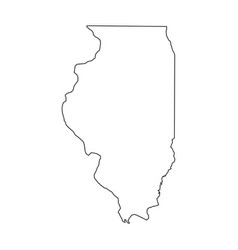 Illinois state of usa - solid black outline map vector