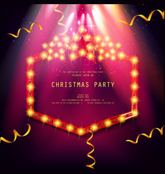 Invitation merry christmas party poster vector