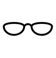 isolated elegant glasses vector image