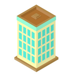 Isometric skyscraper vector