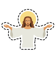 jesus christ icon image vector image
