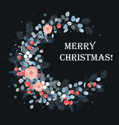 merry christmas card design new year decoration vector image