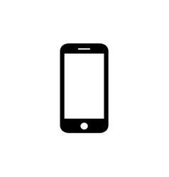 mobile icon vector image