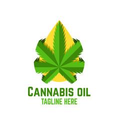 Modern cannabis oil logo vector