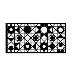 modern cnc pattern decorative panel screenwall vector image