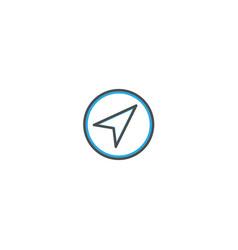 navigation icon design essential icon vector image