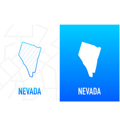 Nevada - us state contour line in white vector