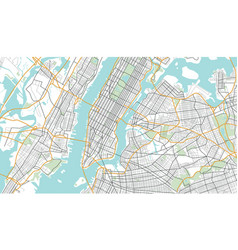 New york city map vector
