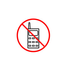 No phone line icon prohibition sign forbidden vector