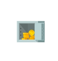 Open safe box with money vector image