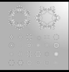 Oriental silver pattern vector