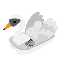 Pedal boat transportation cartoon character vector