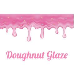 Pink doughnut glaze vector