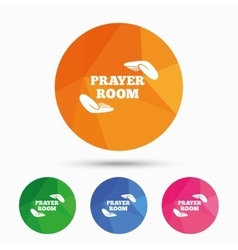 Prayer room sign icon Religion priest symbol vector image