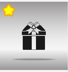 present black icon button logo symbol vector image