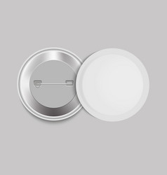 realistic white badge vector image