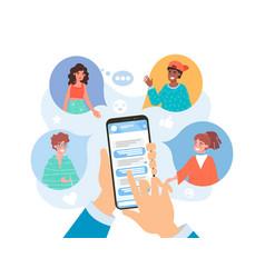 Refer a friend concept on social media vector