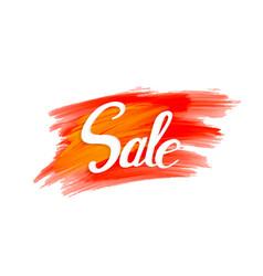 sale sign on vibrant grunge background vector image