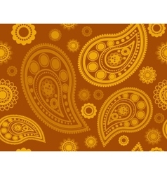 Seamless pattern in gold and yellow vector
