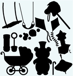 Set of childrens subjects vector image