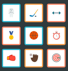 set of fitness icons flat style symbols with vector image