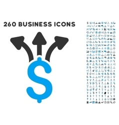 Share Money Icon with Flat Set vector image