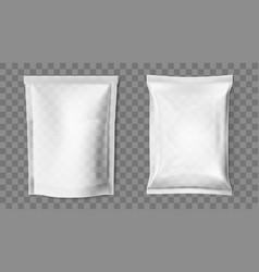 simple blank doy pack and pillow pack vector image