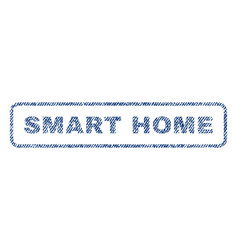 Smart home textile stamp vector