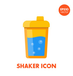 Sport shaker icon on white in flat style vector