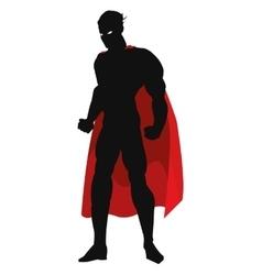 superheroe posing silhouette vector image