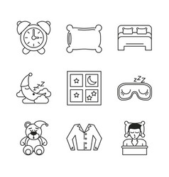 sweet sleep icons vector image