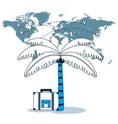 travel around world vector image