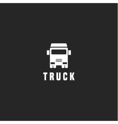 Truck sign for the trend of transport and vector