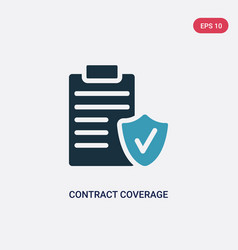 Two color contract coverage icon from insurance vector